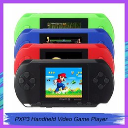 video game handheld consoles wholesale Australia - Arrival Game Player PXP3(16Bit) 2.5 Inch LCD Screen Handheld Video Game Player Console 5 Colors Mini gamepad via DHL