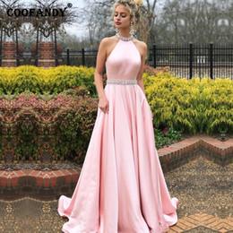 Full Length Party Dresses NZ - Women Fashion Elegant O-Neck Sleeveless Backless Long Halter Evening Party, Wedding Full Length Slim Dress