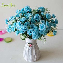 $enCountryForm.capitalKeyWord Australia - Decorations Artificial Dried Flowers Zonaflor Artificial Flower Mini Rose 15Heads Bouquet Silk Home Decoration Valentines Day Gift Fake F...