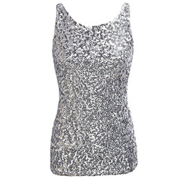 $enCountryForm.capitalKeyWord UK - Shirt Tank Top Women Glam Sequin Embellished Sparkle Play Tank Vest Clothing Top Selling Sexy Leopard Skinny Shirt