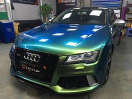 $enCountryForm.capitalKeyWord Australia - Super Gloss Metallic Jungle Green Vinyl Car Wrap Foil Air Free Metal Glossy Forest Green Film Car Wrapping 1.52x20 meters 5x67ft