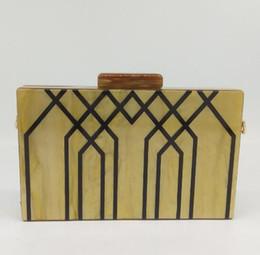 $enCountryForm.capitalKeyWord NZ - Geometric Striped Acrylic ABS Women Fashion Handbags and Purses Hard Case Evening Box Clutch Chain Shoulder Bag MIL1108