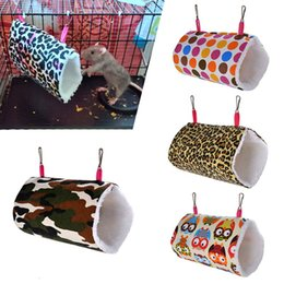 hamster beds UK - Squirrel Rat Swing Nest Cages Small Animal Hanging Cave Hedgehog Soft Warm Tunnel Cavia Guinea Pig Bed Hamster Hammock