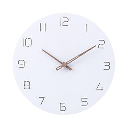 Type clocks online shopping - 29cm Nordic Style Fashionable Simple Silent Wall Clocks for Home Decor Pure White Type Wall Clock Quartz Modern Design Timer