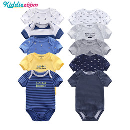 $enCountryForm.capitalKeyWord NZ - Newborn Baby Rompers Boy Clothes Playsuit Clothes 100% Soft Cotton Cute Jumpsuit Infant Girl Body Romper Clothing For 0-12m Boy J190705