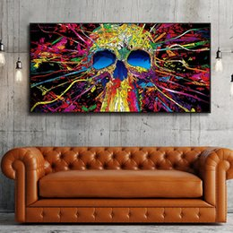 round skull NZ - full square round Diamond Embroidery SKulls Large Size Cartoon Graffiti 5d DIY Diamond Painting Mosaic Rhinestones JS4965
