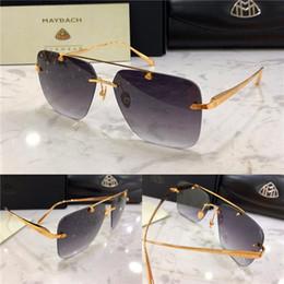 Top car logos online shopping - Top luxury men eyewear car brand Maybach fashion designer square frameless outdoor uv400 sunglasses THE HONAIZEN I exquisite details logo