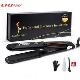 $enCountryForm.capitalKeyWord NZ - Chj Steampod Professional Steam Hair Straightener Ceramic Chapinha Flat Iron Straightener Hair Iron Vapor Steam SteamerMX190820