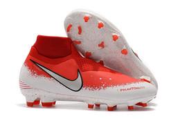 2019 erkek futbol cleats Phantom Vizyon Elite DF FG açık futbol ayakkabı x EA Spor Phantom Vizyon futbol çizmeler scarpe calcio ucuz indirimde