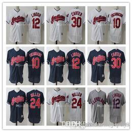 Men s Cleveland Indians Francisco Lindor Joe Carter Majestic white blue  gray Flex Base Authentic Collection Player Jersey d8201a4ac