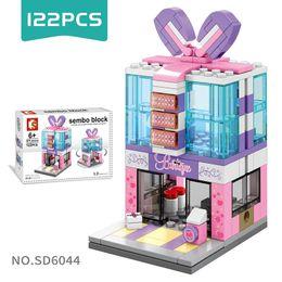 $enCountryForm.capitalKeyWord Australia - DIY Mini Street Scenery Building Blocks Puzzle Assembling Small Particles Building Blocks Best Gift for Kids