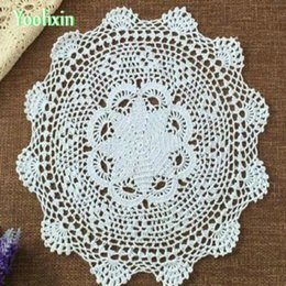 $enCountryForm.capitalKeyWord Australia - Modern DIY handmade crochet round table cloth cover kitchen lace cotton coffee tablecloth Christmas dining wedding decor