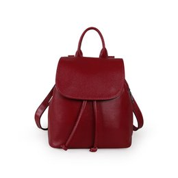 $enCountryForm.capitalKeyWord Australia - Lovely2019 Package Shoulders Both Woman Ma'am Leisure Time Joker Head Layer Cowhide Bag Concise Travel Backpack