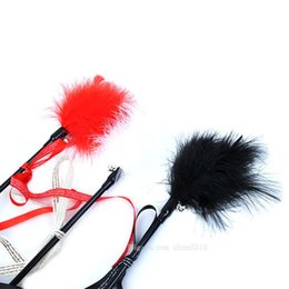 Wholesale Toys Ships Australia - Free Shipping Hot 1PCS Hot Sale Cat Toys Make A Cat Stick Feather With Small Bell Natural Like Birds Random Color Black Coloured Pole