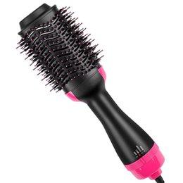 Air Brush Hair Styler NZ - Hot Air Brush, One Step 2-in-1 Hair Dryer & Styler & Volumizer Multi-functional Straightener Brush & Curly Hair Brush with Negative Ions