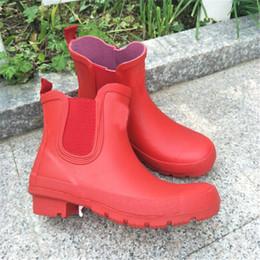 $enCountryForm.capitalKeyWord NZ - Brand Designer Waterproof Antiskid Shoes Women Men RainBoots Adult Riding Boots Black Blue Red Short Boots Ankle Water Shoes Hot Sale C8601