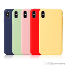 iphone 6plus rubber cases NZ - Top Quality Pure Liquid Silicone Rubber Case Whole Cover for iPhone 6 6Plus 7 7Plus 8 8Plus X XR XS XS MAX with Retail box