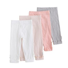 autumn kids leggings UK - Summer Waist Children Kids Pants Baby Girl Candy Color Solid Color Causal Pants Leggings For Girls Fashion