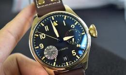 Gold Display Case Australia - Mens Luxury Watch Large Pilot IW501005 Bronze Case 46mm Calendar Kinetic Energy Display Cal.51111 Movement Sapphire Men Fashion Wristwatches