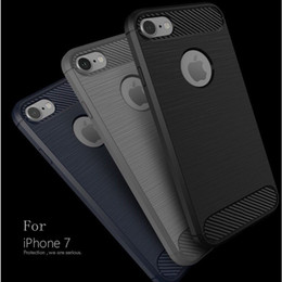 Fiber Max Australia - For S10 Carbon Fiber Brushed Phone Case For iPhone XS MAX XR X Case Silicone Back Cover For iPhone 7 8 6 6s Plus Protective Case