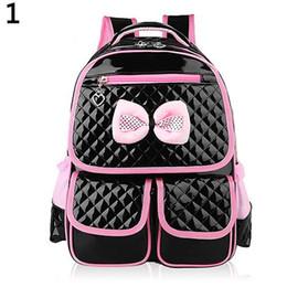 Discount backpacks princesses - Hot New Kid Girls Princess Backpack High capacity bag Cute Bowknot Faux Leather Book Storage School Bags