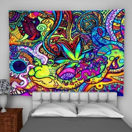 Psychedelic wall hangings online shopping - Psychedelic Colorful Wall Hanging Tapestry Psychedelic Bedroom Home Decoration