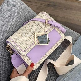 bag for summer NZ - Small Straw Bags For Women 2020 Summer Crossbody Bags Lady Travel Purses and Handbags Female Shoulder Messenger Bag