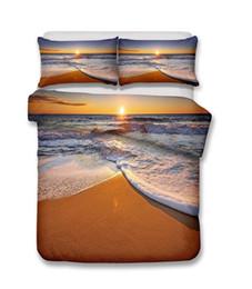 $enCountryForm.capitalKeyWord UK - Beautiful Beach Scenery Series Sunny Beach And Sea wave Bedding Set Print Duvet Cover Set Lifelike Bed Sheet