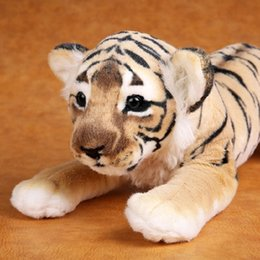 stuffed plush tiger NZ - Soft Stuffed Animals Tiger Plush Toys Pillow Animal Lion Peluche Kawaii Doll Cotton Girl Brinquedo Toys For Children Y200111