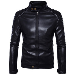 $enCountryForm.capitalKeyWord Australia - Retro Motorcycle Leather Jacket Mens Coat Casual Punk Sheepskin Moto Jacket Biker Windproof Motor Clothing plus Size 5XL