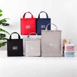 $enCountryForm.capitalKeyWord NZ - Thermal Insulation Bento Bag Oxford Cloth Hand Hold Lunch Bags Blue Grey Black Red Dinner Pail Sack 7 2yq2 L1
