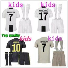 03990759a79 Ronaldo jeRseys kids online shopping - 2018 RONALDO soccer jersey kids kit  Customized DYBALA MARCHISIO MANDZUKIC
