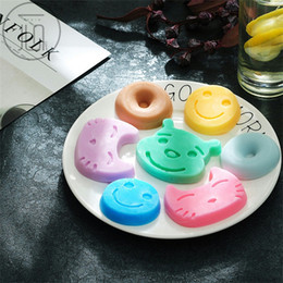 China Silicone Cake Molds 7 Holes Position Cartoon Emoticon Modeling Doughnut Moulds Small Cats Bears Shape Baking Mold 4 7yx L1 suppliers