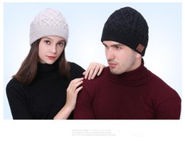 Beanies For Winter Australia - 2 Colors Wireless Bluetooth Beanies Sport Music Hat Smart Headset Cap Warm Winter Hat With Mic Speaker For All Smart Phones CCA8045 10pcs