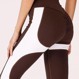 fa14acb982bd1 Shapewear Leggings UK - Women s Yoga Pant Color Splicing Workout Leggings  Push Up Hip Yoga Pants