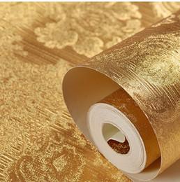 Roll Glitter Paper Australia - luxury golden glitter wallpaper waterproof 3d pvc wallpaper vinyl european wallpaper 4d decorative plastic wall paper