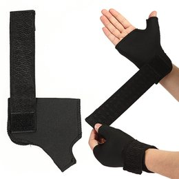 $enCountryForm.capitalKeyWord Australia - 2pcs 1 Pair Wrist Palm Thumb Brace Guard Sport Training Hand Bands Wrist Support Straps Wraps Guards For Gym Basketball Fitness