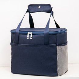 Picnic Ice Packs Australia - 7L 15L portable large lunch bag thermal picnic box drinks insulated cool handbag ice pack bolsa for men women cooler bag