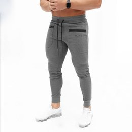 muscle print pants Australia - 2020 Muscle Kid Brother Fitness New Style Autumn And Winter Casual Sports Fitness Trousers Men Training Pants Europe And America