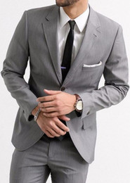 $enCountryForm.capitalKeyWord Australia - Latest Coat Pant Designs Grey Men Suit Jacket Wedding Suits for Men Groom Blazer Slim Fit Custom 2 Piece Tuxedo Masculino