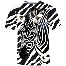 7b1e73cb282e42 New Arrival 2018 Funny 3D T Shirt Men zebra Printed Top Tees Casual Man  Slim Fit Short Sleeve O Neck Male Tee High