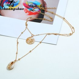 $enCountryForm.capitalKeyWord Australia - Shuangshuo New Fashion Pendant Necklace with Shell Coin Starfish Pearl Necklaces Boho Vintage Shape Design Geometric Necklace