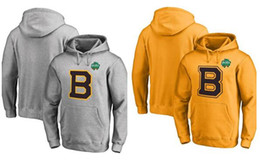 7d63bb7c1 Men's Boston Bruins Fanatics Branded Gray And Gold 2019 Winter Classic  Primary Logo Pullover Hoodie