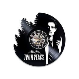 Vente en gros Kyle MacLachlan Horloge murale Vintage Twin Peaks Serial Vinyl Record Horloge murale Twin Peaks Art Chambre fait à la main Art Twin Peaks cadeau pour ventilateur