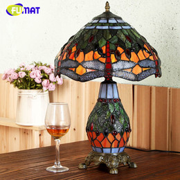 $enCountryForm.capitalKeyWord NZ - FUMAT European Style Table Lamp For Living Room Pastroal Creative Stained Glass Table Lights Dragonfly Shade Bedside Table Lamps
