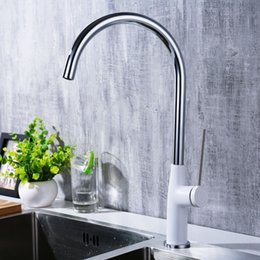 $enCountryForm.capitalKeyWord NZ - Chrome Plated Brass Kitchen Faucets Hot And Cold Water Mixers White Black Paint Rounded Water taps