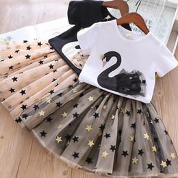 460631664d04 Clothing skirt set online shopping - Girls Outfits kids Designer Set Clothes  New Summer Girls Sets