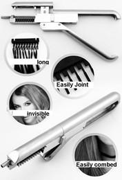 Wholesale New Hair Extensions 6d Machine Salon hair treatment 6d wig contection Gun,free dhl