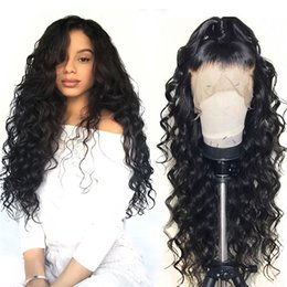 prices for brazilian hair 2019 - Cheap 8A Deep Wave Natural Looking Hair full lace human hair wigs For Black Woman Wholesale Price Free Shipping discount