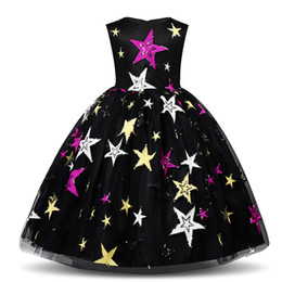 evening straight gown Australia - Costume for Kids Girl Dress Night Sky Evening Gown Birthday Party Dresses for Girls Children Casual Clothing